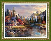 """Картина своими руками - алмазная вышивка """"Прелестный пейзаж"""""""