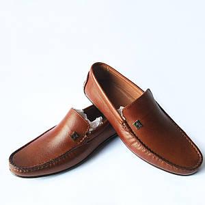 Rifellini обувь: мужские, кожаные мокасины, коричневого цвета