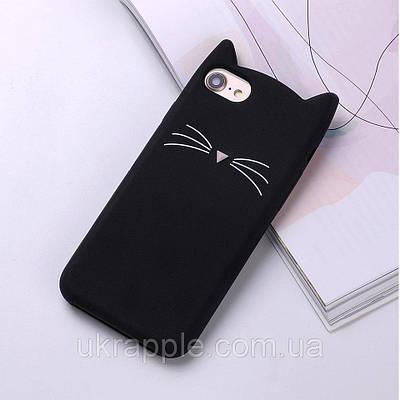 Чехол накладка на iPhone 7/8 черный котик