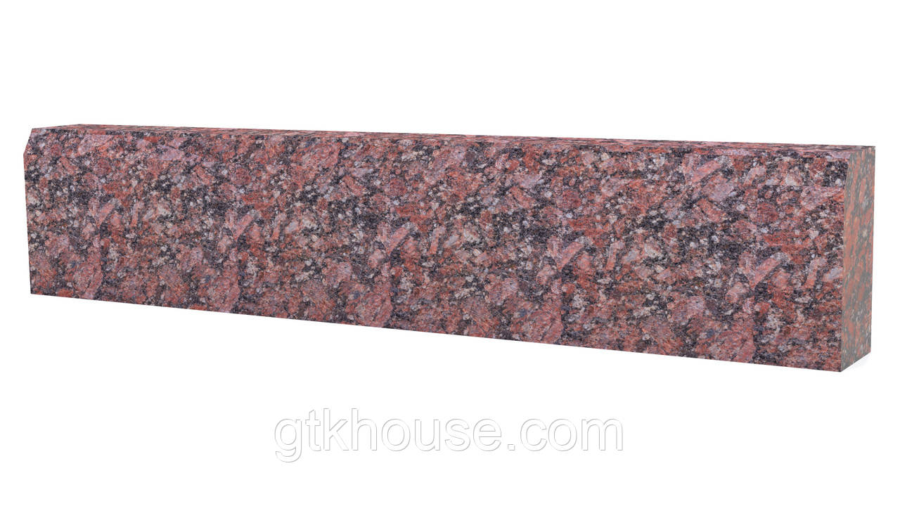 Бордюрний камінь червоний термо ГП4