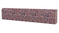 Бордюрний камінь червоний термо ГП4, фото 1