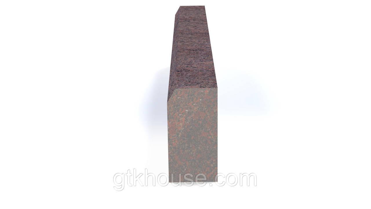 Бордюр гранитный новоданиловский термообработанный ГП4