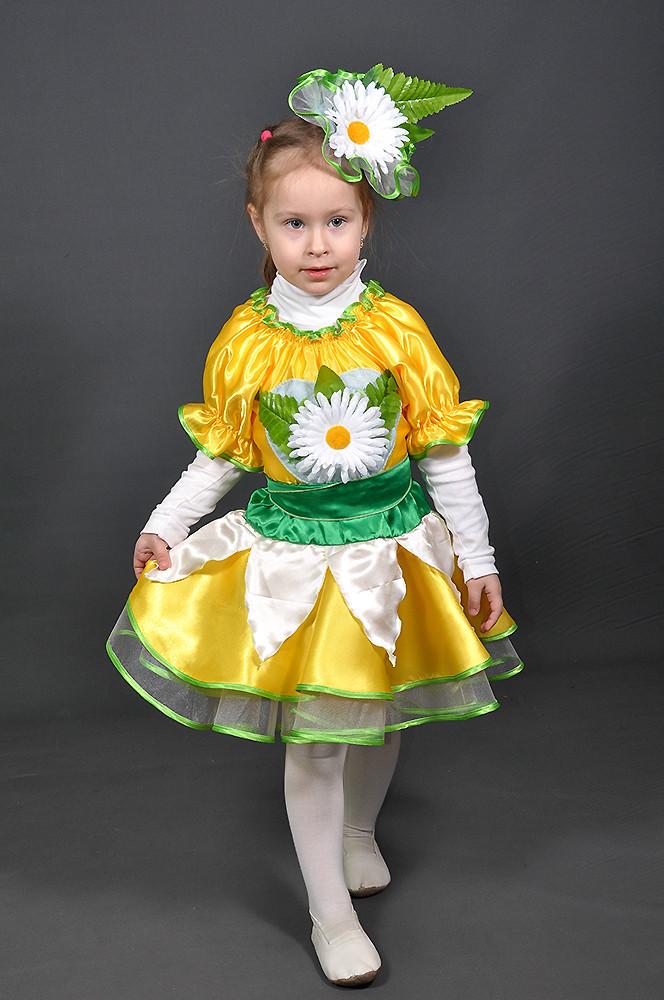2223b078164ec Детский карнавальный костюм ЦВЕТОК, ЦВЕТОЧЕК РОМАШКА девочка 3,4,5,6 ...
