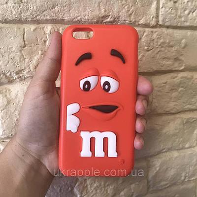 Чехол накладка на iPhone 6/6s M&M`s красный