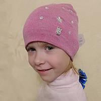 Вязаные шапки со звездочками на девочек (Anpa, Польша), весна 2018, фото 1