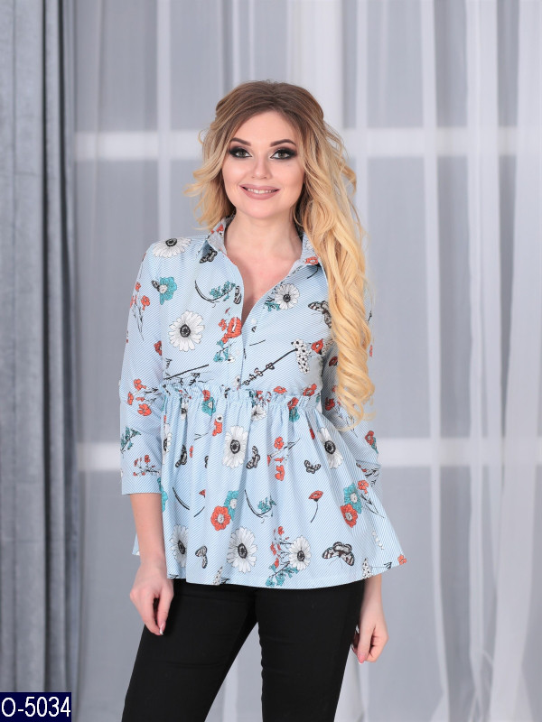 1d65f6526fd Женская рубашка блузка нарядная хлопок 42 44 46 размер - Lider - интернет  магазин модной одежды