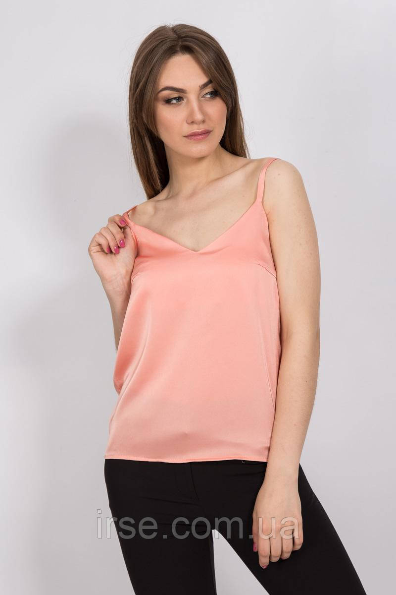 267c396f3f7 Женская блуза на бретельках персикового цвета. Модель 2370. Размеры 42-48