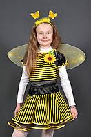 Детский карнавальный костюм ПЧЁЛКА, ПЧЕЛА для девочки 3,4,5,6,7 лет новогодний маскарадный костюм ПЧЕЛКИ ПЧЕЛЫ
