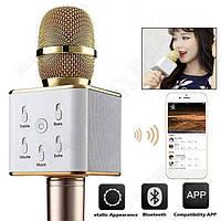 Микрофон + караоке Bluetooth Q7 GOLD, фото 1