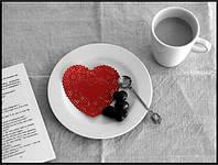 Алмазная вышивка 45*35 Утренний кофе (Полная выкладка)