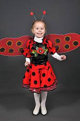Детский карнавальный костюм БОЖЬЯ КОРОВКА девочка 3,4,5,6,7 новогодний маскарадный костюм БОЖЬЕЙ КОРОВКИ 331