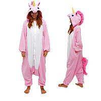 Пижама Кигуруми Единорог розовый 10888