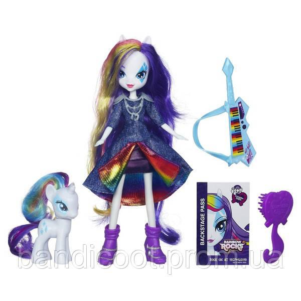 Кукла и Пони Рарити (Rarity) – Девушки Эквестрии  My Little Pony Equestria Girls Rarity Doll and Pony Set