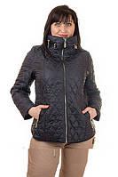 Женская стеганая демисезонная куртка оптом от украинского производителя г.Харьков, р.54,56,60 код 1022М