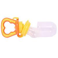 Детский оранжевый силиконовый ниблер  для мальчиков и девочек Забава