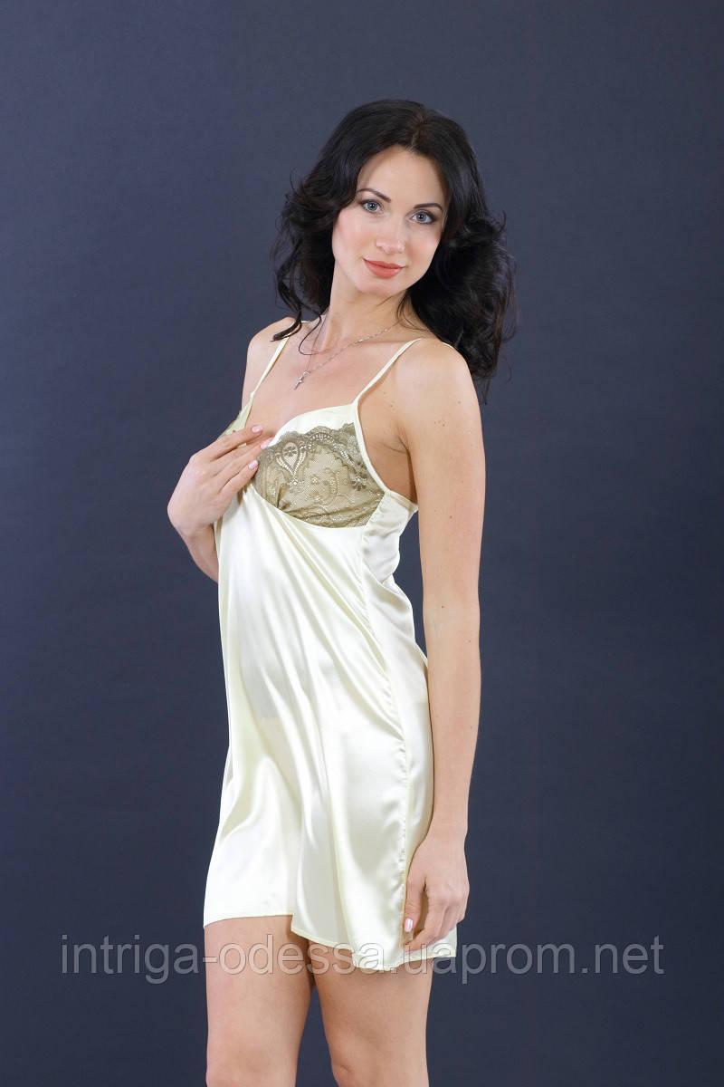 Сорочка ночная женская шампань ТМ Ksena