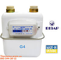 Визар G4 газовый счетчик Vizar G4 (лічильник Візар G4, Україна)
