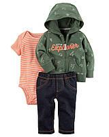 Детский костюм из трех вещей с кариганом Carters Картерс для мальчика