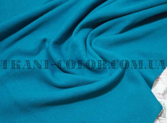 Трикотаж кашкорсе голубая бирюза (пенье), фото 2