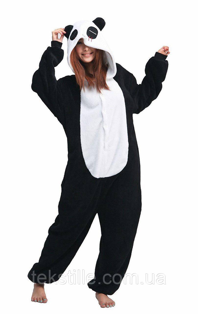Кигуруми для взрослых Панда Черная S.M.L