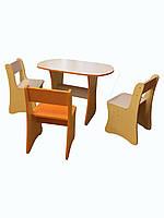Комплект мебели для игровой зоны ( стол + 3 стула )