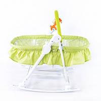 Детский шезлонг-люлька 3в1 TILLY BT-BB-0003 зеленый