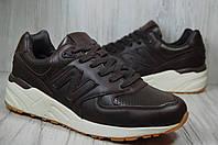 Мужские кожаные коричневые кроссовки New Balance 999 , фото 1