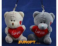 "Мягкая игрушка брелок Мишка Тедди  ""LOVE"" (8 см) №2132"