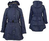 Плащ - пальто р. 128, 140-152 демисезонное LEANDRA для девочки 8, 10-12 лет ТМ HUPPA 18030004-00086