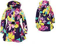 Плащ - пальто демисезонное LEANDRA для девочки 5 лет, размер 110 ТМ HUPPA 18030004-81373