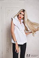Женская рубашка в горошек   B&H цвет Белый НОВИНКА