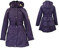 Плащ - пальто демисезонное LEANDRA для девочки 9, 11 лет, размеры 134, 146 ТМ HUPPA Фиолетовый 18030004-70073