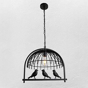 """Люстра в стиле лофт """"Птички"""" (модель 61-NZ01-1)"""