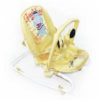 Детский шезлонг-качалка BT-BB-0001 бежевая, фото 1