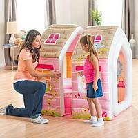 Детский надувной игровой домик Princess Play House Intex 48635