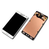 Дисплей в сборе с сенсором white (GH97-16922A) для смартфона Samsung  A700 Galaxy A7
