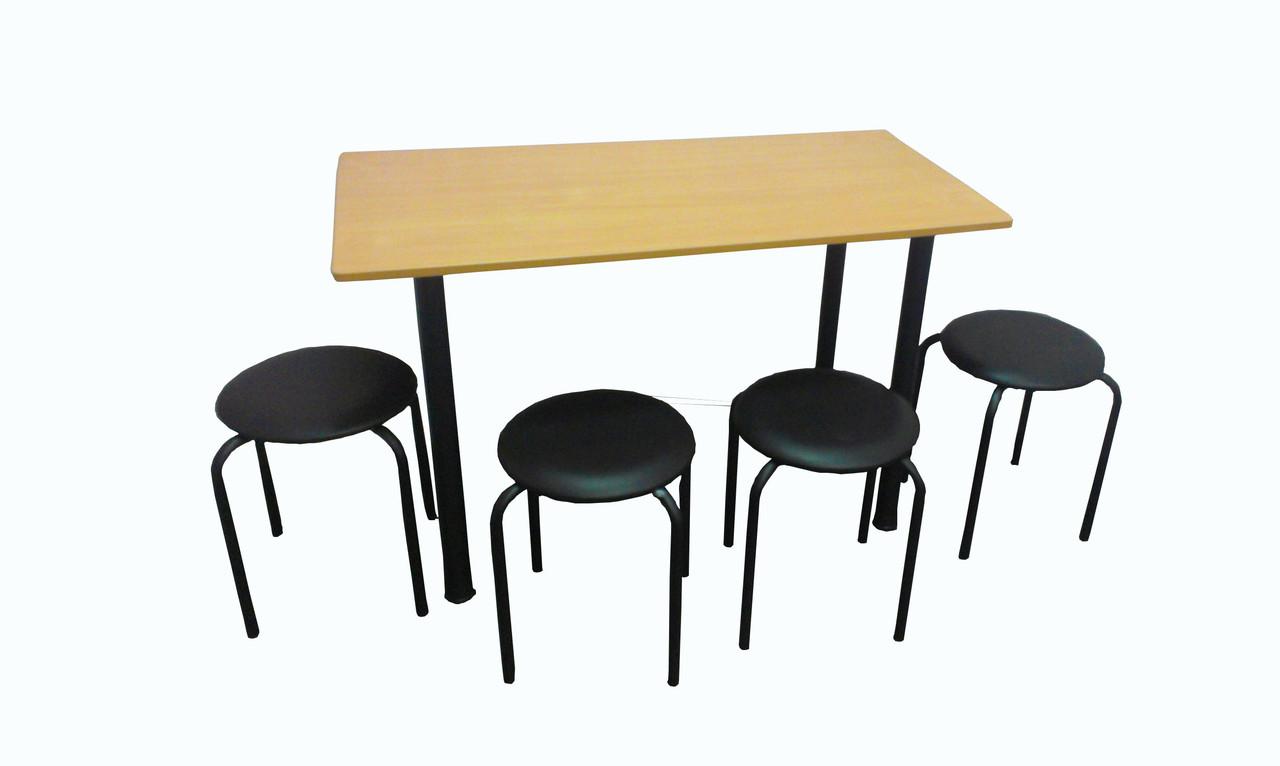 Стол для столовой ( комплект со стульями) для общежития или хостела