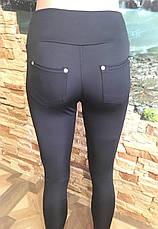 Лосины с замочками ниже колен кожа, фото 3