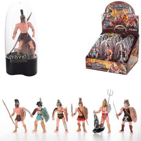 "Фигурка 8910-62 ""Gladiators"", 9 см, 12 шт. (6 видов) в упаковке (Y), фото 2"