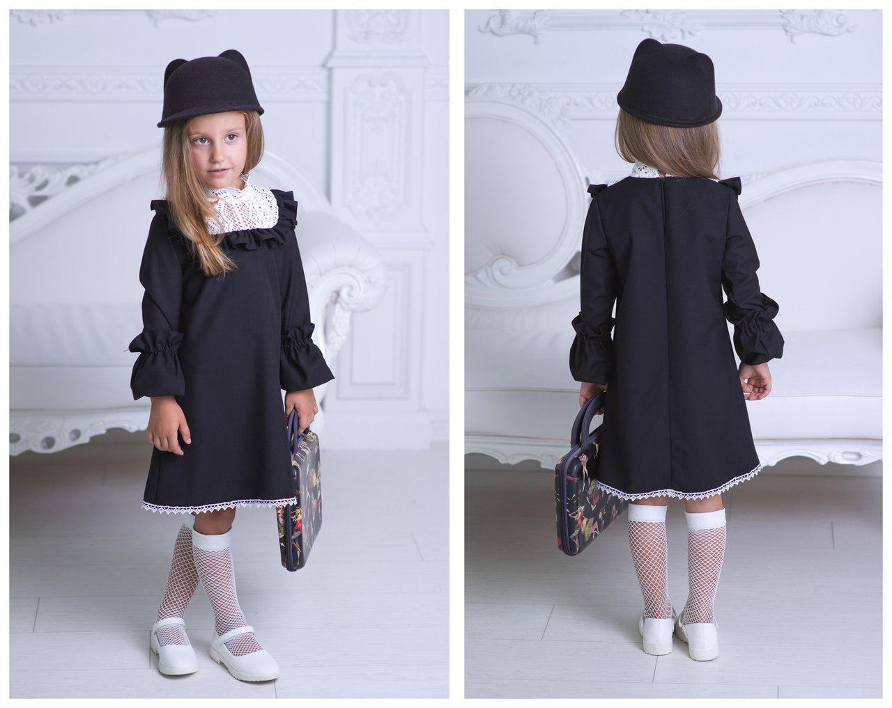 Стильное платья в английском стиле для девочки