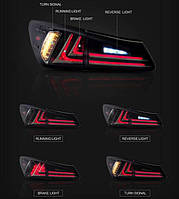Задние led фонари тюнинг Lexus IS250 IS300 IS350 2006-2012 г.в.