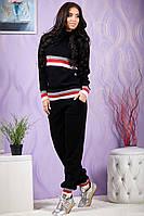 Костюм женский вязанный Санта Чёрный , фото 1