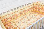 Простынь в детскую кроватку «Мишка с цветочком» желтого цвета (120*60), фото 2