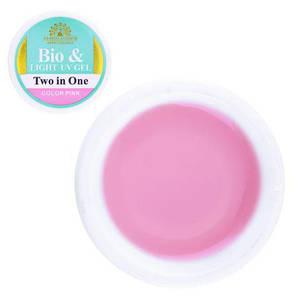 """Гель BIO & Light UV Gel Two in One """"Color Pink"""", 15 g."""