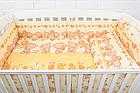 """Охранка и сменная постель """"Мишка с цветочком"""" жёлтого цвета № 170, фото 2"""