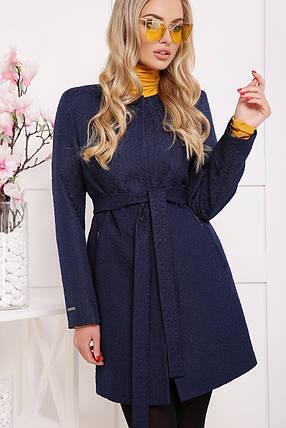 4b70f56f126 Укороченное женское пальто темно-синий цветок 42-48  продажа