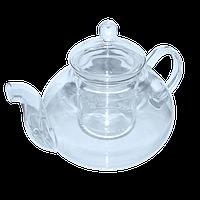 Стеклянный чайник со стеклянным заварником, 600 мл