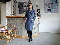 Женское пальто - кардиган под пояс без подкладки, фото 1