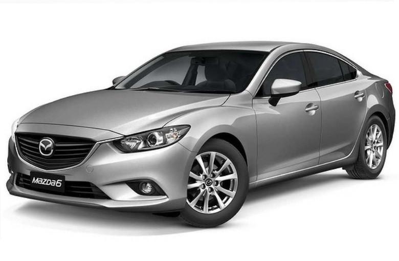 Лобовое стекло Mazda 6 место под датчик, лазер системы торможения и молдинг  (2012-)