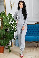 Костюм женский вязанный Селин ( светло-серый )